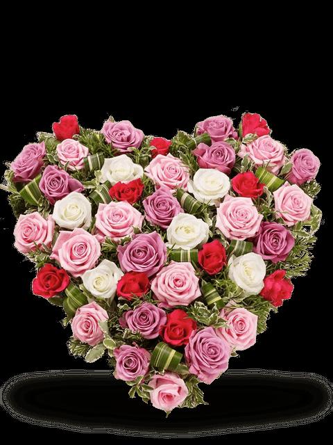 Cuore di rose delicate