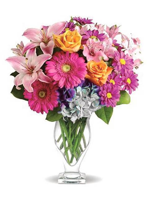 Spedizione Fiori.Bouquet Di Fiori Misti Multicolore Con Consegna A Domicilio