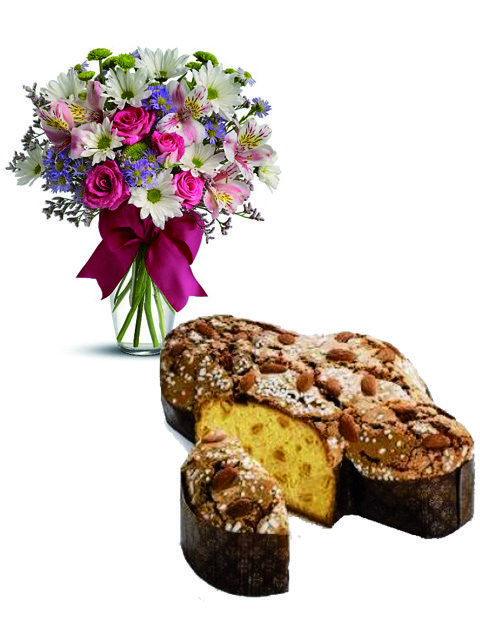 Colomba e bouquet