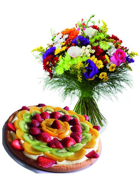 fiori misti e crostata