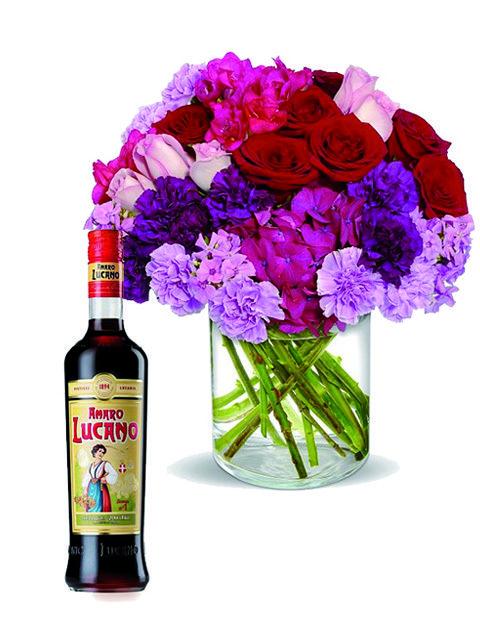 Bouquet fiori con Amaro