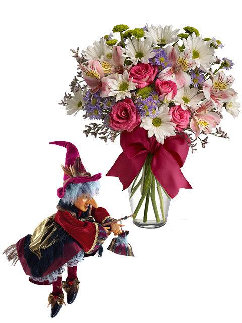 befana con bouquet beautiful
